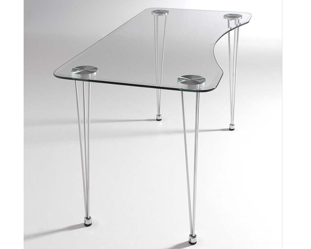 Escritorio cristal aries electromuebles hermanos molina - Mesa escritorio cristal ...