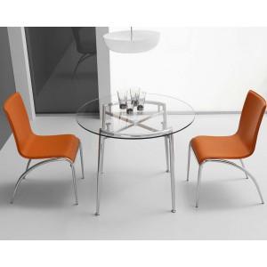 Mesa cocina comedor fija madera electromuebles hermanos for Mesa redonda cristal 60