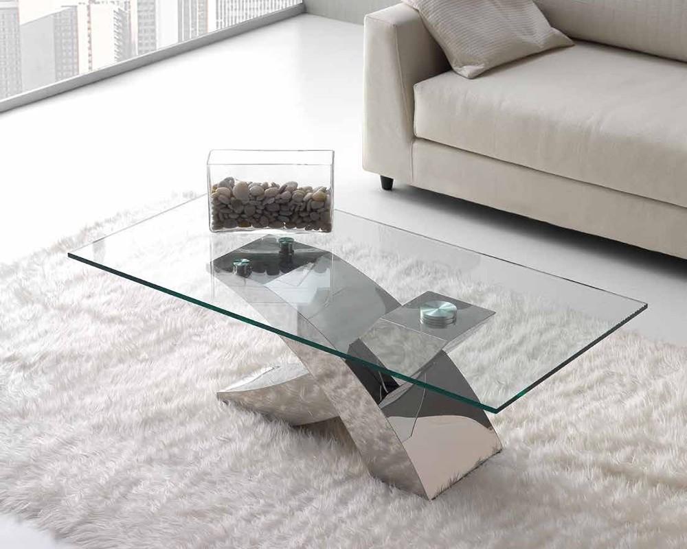 Mesa centro cristal atlas electromuebles hermanos molina - Mesas de centro de diseno de cristal ...