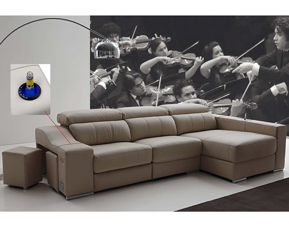 Sof chaiselongue intelegente milano electromuebles for Sofa cheslong