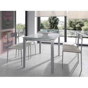 Mesa cocina comedor fija madera electromuebles hermanos - Mesa extraible cocina ...