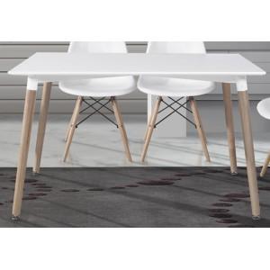 Mesa cocina comedor fija madera electromuebles hermanos - Mesas de cocina de madera ...