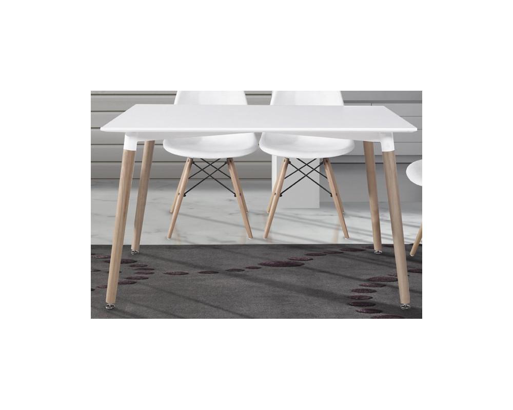 Mesa cocina comedor fija madera electromuebles hermanos for Mesas para cocina extensibles