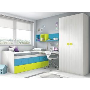 Composición Dormitorio Juvenil L012