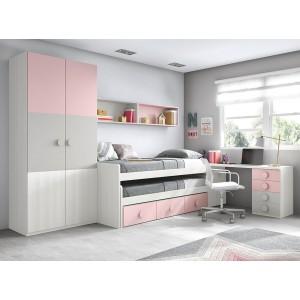 Composición Dormitorio Juvenil L020