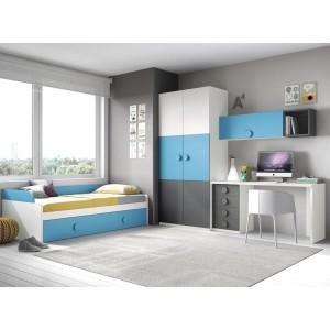 Composición Dormitorio Juvenil L109