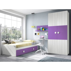 Composici N Dormitorio Juvenil 04 Electromuebles